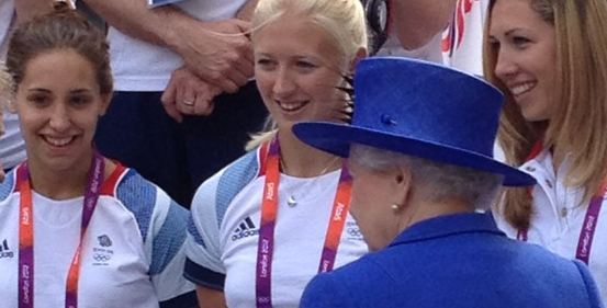 the Queen meets TeamGB